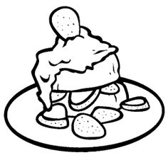Strawberry Chocolate Chip Cookie Coloring Page