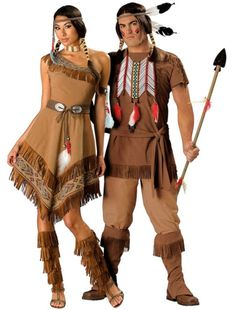 elite native american maiden and elite native american brave couples costumes - Native American Costume Halloween