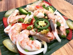 "Shrimp Kinilaw or Kinilaw na Hipon is popular Filipino appetizer also known as ""Pulutan"". Kinilaw is a method of food preparation which involves cooking in vinegar. Kinilaw na Hipon is the Filipino version of shrimp ceviche, that uses vinegar and kalamansi juice."