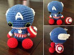 Amigurumi Captain America by SanneMarije.deviantart.com on @deviantART