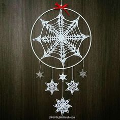 Dreamcatcher Crochet, Crochet Feather, Thread Crochet, Crochet Doilies, Crochet Flowers, Crochet Christmas Ornaments, Holiday Crochet, Crochet Snowflakes, Christmas Snowflakes