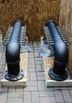Double Service 20 Tap Custom Draft Beer Tower Black door TappedBeer