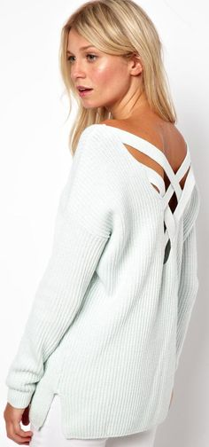 Asos Chunky Jumper with Strap Cross Back