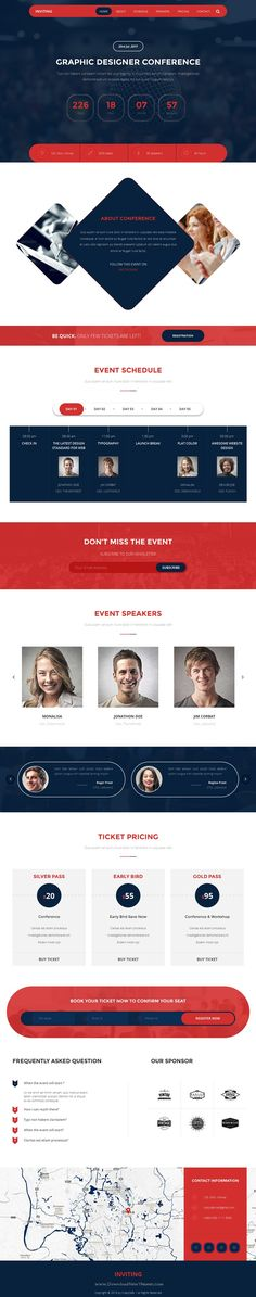 INVITING – Event & Conference Bootstrap HTML5 Template is an ideal fit for a #conference, #seminar, or any other type of event. #webinar #website