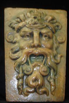 Charming Garden Wall Greenman Terra Cotta Sculpture Decor 10046