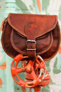 b8495199fe586 Claire Umhängetasche Handtasche Ledertasche Vintage Braun Leder