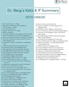 Dr Berg Food List Keto