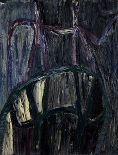Marika Mäkelä: Peinture, öljy paperille, 65x50 cm - Hagelstam K126