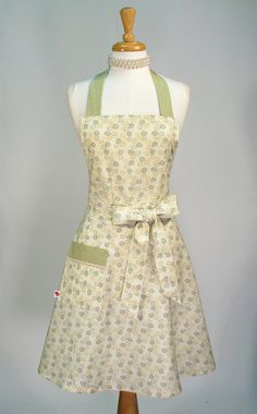 Classic Apron Retro Bib Styled Handmade by SwankyPlaceAprons, $37.50