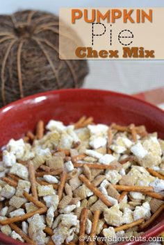 Pumpkin Pie Chex Mix by A Few Shortcuts. Perfect treat for fall!