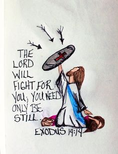 "Scripture Doodle ""The Lord will fight for you, you need only be still."" Exodus greeting card of encouragement/Scripture/Be still/bible Bible Verses Quotes, Jesus Quotes, Bible Scriptures, Faith Quotes, Bible Quotes For Women, Jesus Bible, Scriptures For Encouragement, Scripture Doodle, Bible Art"