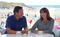 David Cameron turns back clock on another Cornish holiday Samantha Cameron, David Cameron, Business Women, Southern Prep, Life Is Good, Couple Photos, Holiday, Cornwall, Beach
