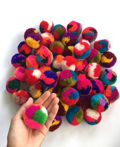 Excited to share this item from my shop: Multi color Big Pom Pom 2 inches, Boho Decor Party Supplies yarn pom pom Crafts For Teens To Make, Easter Crafts For Kids, Crafts To Sell, Easy Crafts, Diy And Crafts, Pom Pom Garland, Pom Poms, Pom Pom Crafts, Easter Bunny Decorations