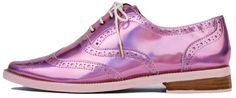 Irregular Choice Pink Holographic Oxford