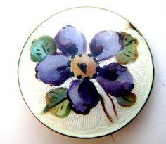 violet silver brooch Norway enamel Rar от ODMIVINTAGE на Etsy