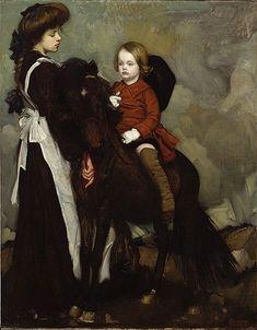 George W. Lambert (1873-1930) - Equestrian Portrait of a Boy