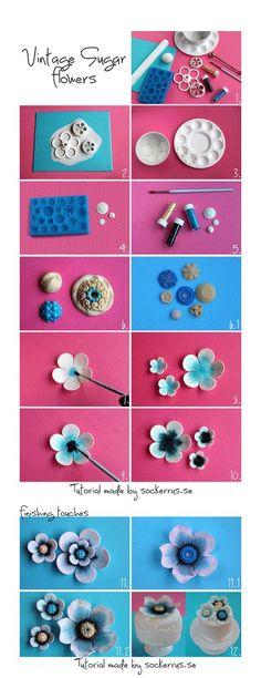 http://sockerrus.se/dekorationer/tutorial-vintage-sugar-flowers/