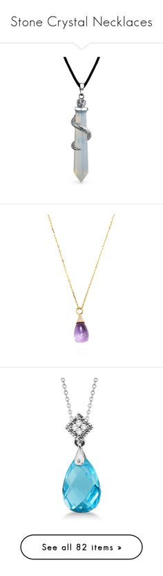 """Stone Crystal Necklaces"" by thedancingdiamond ❤ liked on Polyvore featuring jewelry, necklaces, clear, layered necklace, hippie necklaces, fake jewelry, multi layer necklace, lobster clasp necklace, purple and diamond necklace"
