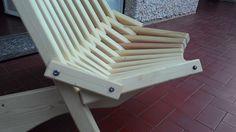 Sedia legno pieghevole particolare costruttivo