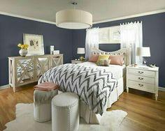Chambre en bleu foncée comme la mienne
