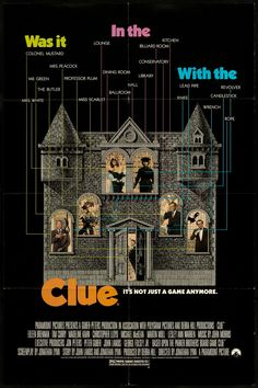 Clue-Before all these other movies based on games or Disney rides there was CLUE!! And it had 3 diffrent endings, way ahead of it's time. If you haven't seen it, check it out!
