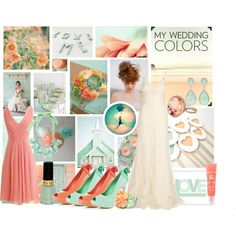 Peach and Mint Wedding