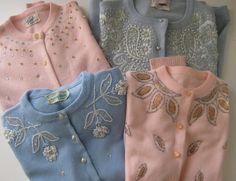 vintage beaded cardigans
