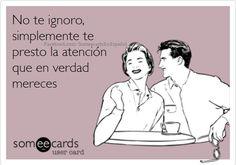 no t ignoro
