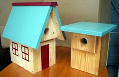 Build bluebird houses using your Kreg jig.  These plans are specifically designed for the needs of the little bluebird families!
