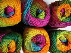 Noro Kureyon - they always have such gorgeous coloured yarn.