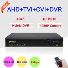 Blue-Ray XMeye App 1080P,960P,720P,960H Surveillance Camera 4CH/8CH 4 in 1 1080N Hybrid CVI TVi AHD CCTV DVR Free shipping #Affiliate
