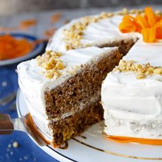 Fitness+mrkvový+dort Vanilla Cake, Carrots, Food And Drink, Pie, Healthy, Sweet, Desserts, Easter, Fitness