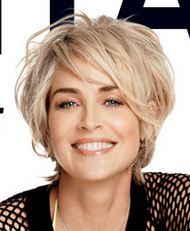 Sharon Stone on Shape Magazine Cover Hair Inspiration Celebrity short hair, Hair styles 2014 Sharon Stone Hairstyles, Messy Bob Hairstyles, Messy Pixie Haircut, Messy Hairstyle, Hairstyle Pictures, Haircut Bob, Hairstyles Videos, Formal Hairstyles, Hairstyles Haircuts