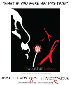 HIV/AIDS awareness poster by Kenzie Keith-Drake, Memorial High School in Madison, Wisconsin.
