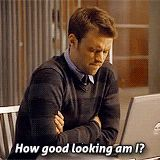 """""""How good looking am I?"""" Jesse Spencer/Robert Chase House."""