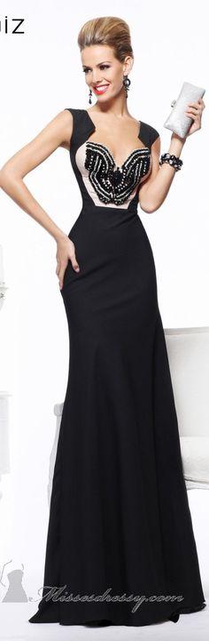 love the blk shoulder treatmt, but take out the buterfly lace - simplify Tarik Ediz couture ~