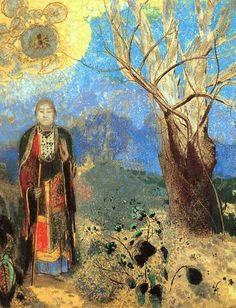 Odilon Redon, The Buddha, 1910.  Art Experience NYC  www.artexperiencenyc.com/social_login/?utm_source=pinterest_medium=pins_content=pinterest_pins_campaign=pinterest_initial
