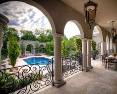 Beautiful Mediterranean style to this outdoor space