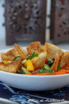 Fattoush - salad that's summery, fresh, spicy and crunchy