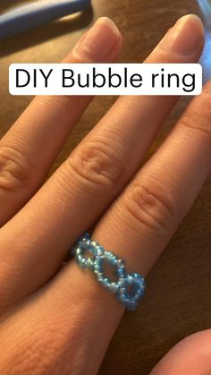 Diy Beaded Rings, Diy Jewelry Rings, Diy Crafts Jewelry, Diy Rings, Bracelet Crafts, Bead Jewellery, Trendy Jewelry, Cute Jewelry, Beaded Jewelry