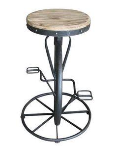 Charles Bicycle Wheel Adjustable Bar Stool Adjustable