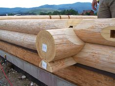 Every strong and beautiful log home starts with a solid foundation. Diy Log Cabin, How To Build A Log Cabin, Small Log Cabin, Log Cabin Homes, Cheap Tiny House, Insulated Concrete Forms, Log Wall, Wooden Architecture, Bamboo Art