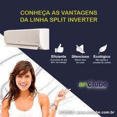 A linha inverter une o melhor da tecnologia e capacidade com economia de energia! Os melhores aparelhos de ar condicionado inverter você encontra aqui na Arclube! Veja aqui: http://www.arclube.com.br/inverter.html