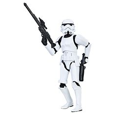 Star Wars The Black Series Stormtrooper. Detailed 6-inch Stormtrooper figure from Star Wars: A New Hope. Includes character-inspired accessory. Expand and enhance Star Wars collection (Additional products sold separately). Includes figure and accessory.
