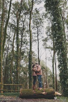 Preboda en el bosque » Cecilia López. Fotografia de bodas Galicia. Bodas Coruña.