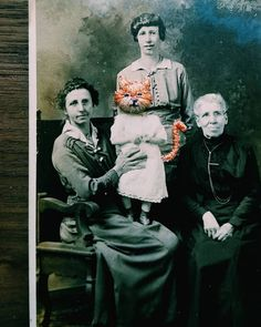Artist Uses Colorful Embroidery to Give New Life to Old Found Photos