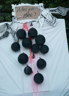 Paint or colored water filled balloons and darts! I LOVE this idea!! Maybe I can convince the husband to go for this one!!