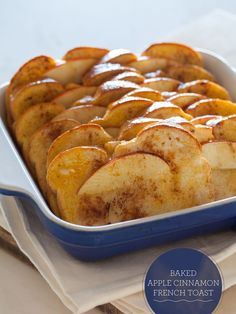 Baked Apple Cinnamon French Toast