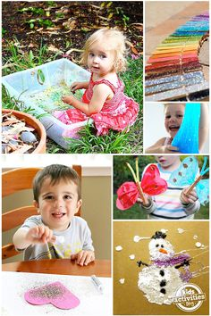 25 Glitter Crafts – add a little sparkle to your kids crafts and activities