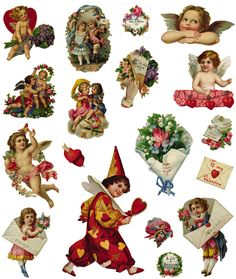 VALENTINE'S DAY February 14 - - Samples Full-Color Holiday Vignettes CD-ROM and Book Welcome to Dover Publications